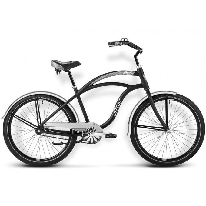 Rower miejski w czarnym kolorze